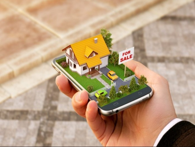 graphics of a home on a phone
